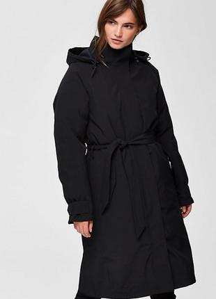 Новый утеплённый тренч selected femme мембрана thermore куртка пальто осень зима весна