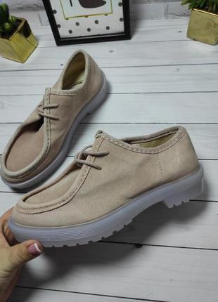 Натуральные замшевые туфли дезерты асос asos