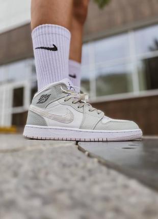 🤍 женские кроссовки nike jordan 1 retro grey camo