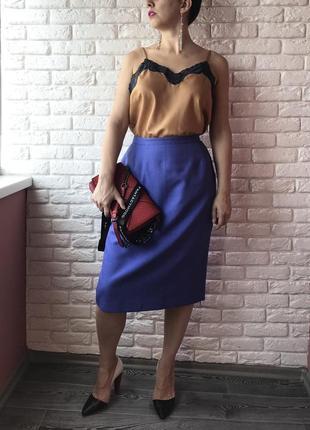 Синяя классическая юбка
