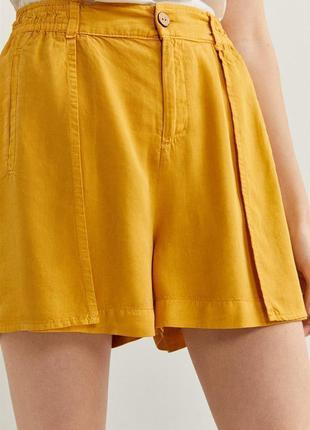 Шорти трендові, стильні жіночі шорти, жовті, желтые легкие шортики.