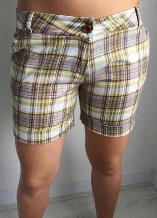 Шорти, шортики, шорты в клетку, короткие шорты, летние шорты.