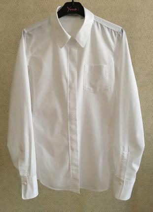 Белая рубашка uniqlo