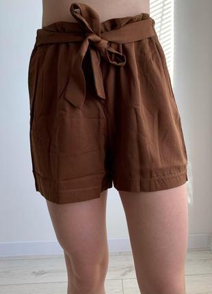 Шорти коричневі, трендові шорти жіночі, женские стильные шорты, casual.