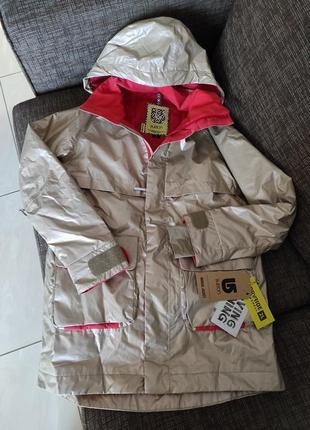 Новая парка burton золотистая куртка оригинал мембрана 10000 мм