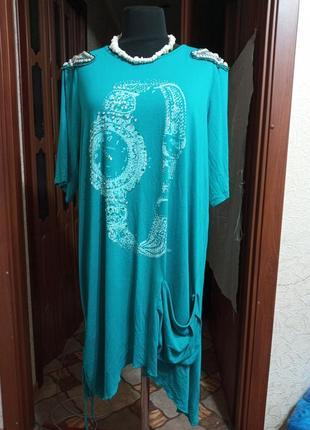 Платье-туника,б/у,батал,7xl, ц . 200 гр