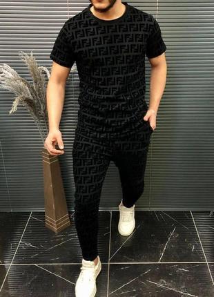 Костюм мужской футболка и штаны бренд