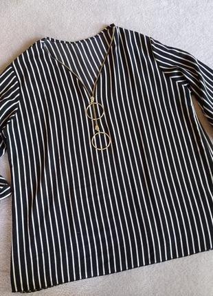 Вискозная блуза в полоску