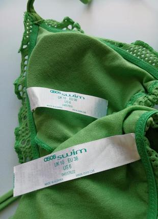 Купальник в стиле кроше плавки на завязках бразилиана6 фото