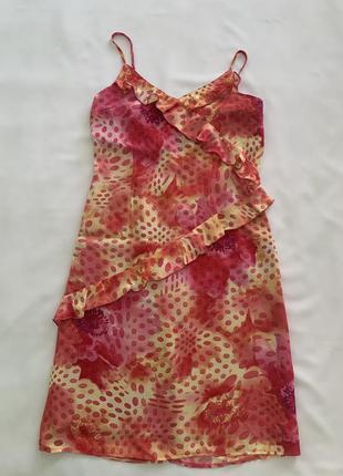 Женское платье -сарафан на бретельках