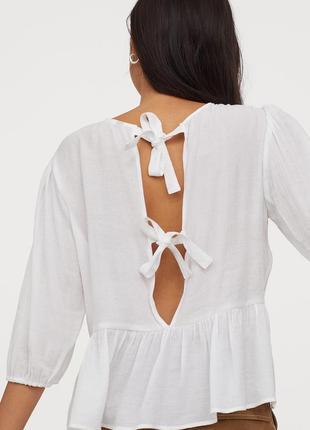 Новая блуза из натуральной ткани h&m