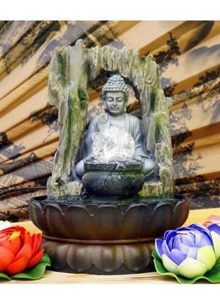 Статуэтка-водопад будда для интерьера полистоун