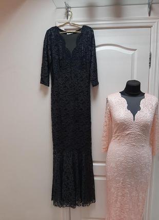 Шикарное вечернее кружевное платье