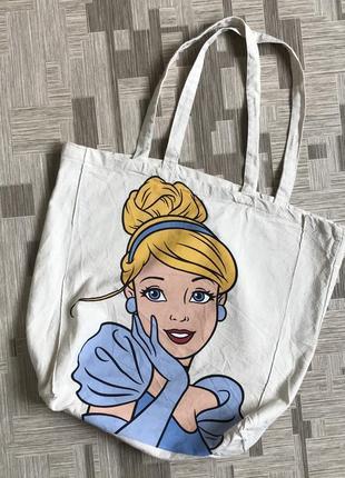 Сумка шоппер disney дисней принцесса мешок пляжная