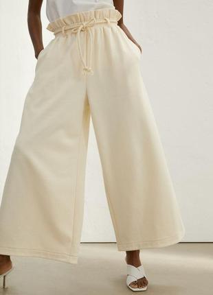 Стильные брюки на высокой талии h&m,p.xs-s-m