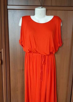 Вискозное платье с открытыми плечами💥💥💥