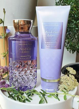 Набор гель и крем для тела bath and body works fresh cut lilacs