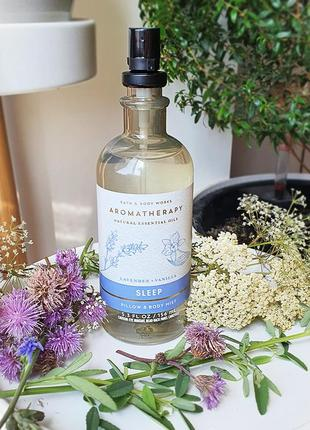 Спрей для подушки и тела aromatherapy lavender vanilla bath and body works