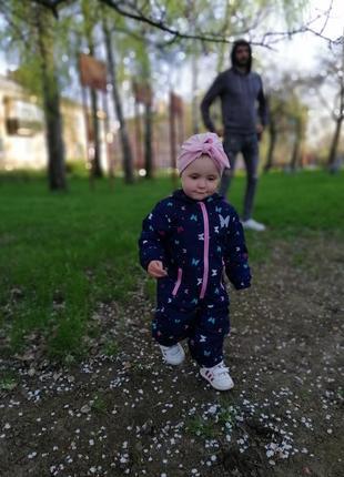 Демисезонный комбинезон, комбез деми на осень, весну для девочки 74 - 80