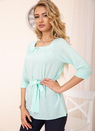 Блузка с рукавами 3/4 цвет мятный 172r1-1