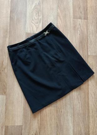 Max mara классическая юбка с шерстью в составе |размер англ 12