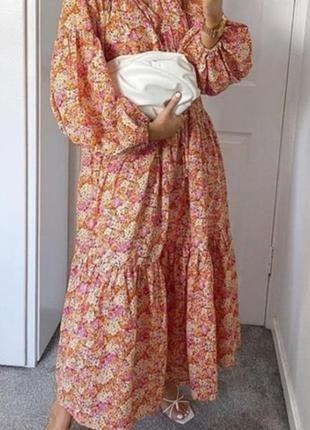 Шикарное летнее женское платье из тонкого коттона
