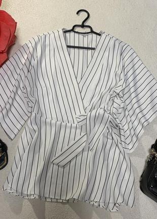 Стильная красивая базовая блуза кимоно