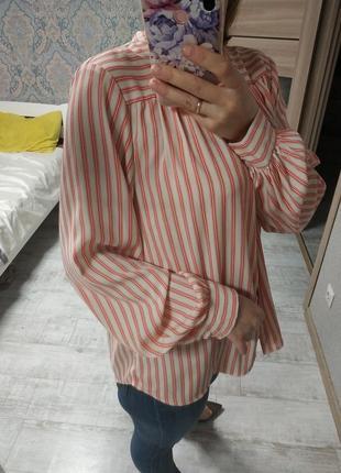 Шикарная базовая блуза с объемными рукавами