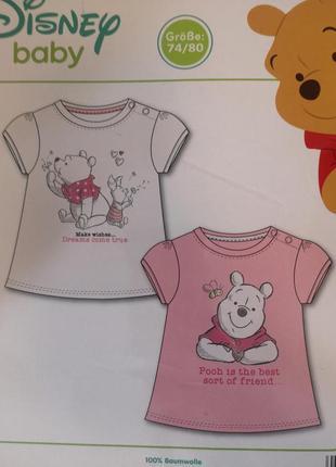 Набор футболок для девочек с винни пухом дисней disney