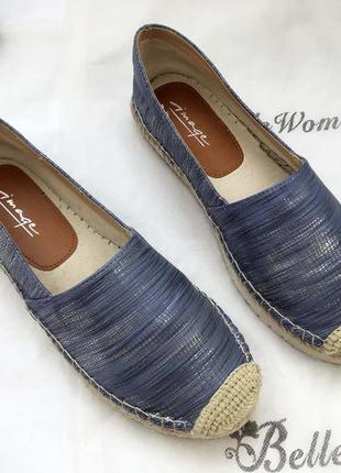 Женские эспадрильи летние 37 размер кожаные синие стильные удобные скидка