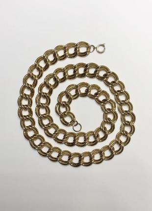 Винтажная цепь, цепочка, винтажное колье в стиле monet. винтаж.
