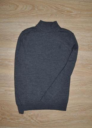 Подростковый свитер под горло мерино шерсть