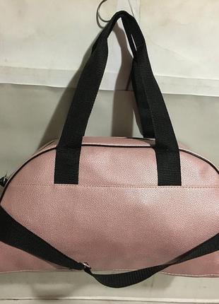 Спортивная сумка пудра,женская сумка для фитнеса, дорожная сумка