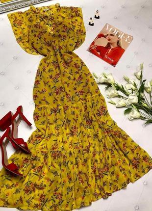 Максі плаття шифонове