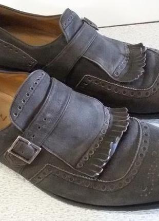 Туфли броги - лоферы с пряжкой j.wilton