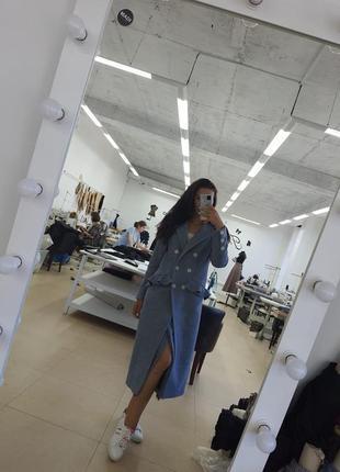 Пальто с натуральной шерсти + юбка