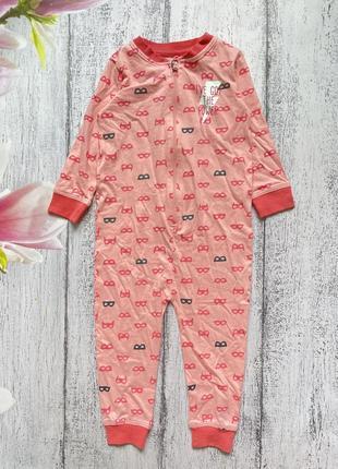 Крутой комбинезон человечек пижама lupilu размер 12-24мес