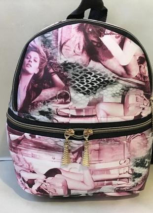 Женский крутой рюкзак в принт город