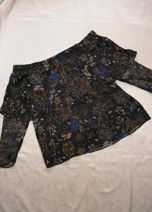 Шифоновая блуза с открытыми плечами