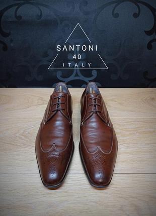 Туфли santoni 40p (28cm) italy