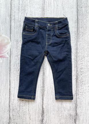 Крутые трикотажные джинсы штаны брюки с вышивкой c&a 12мес