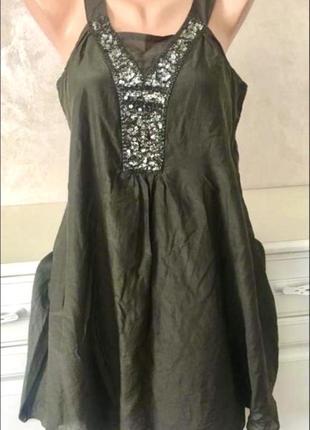 ❤️брендовое шелковое платье свободного фасона