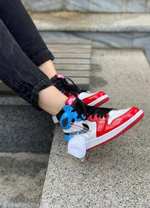 Nike jordan retro 1 feraless unc chicago  кроссовки найк джордан