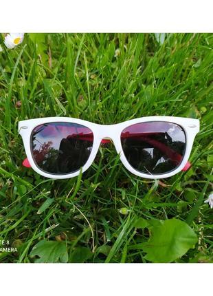 Уценка. детские солнцезащитные очки с поляризацией, мягкие дужки неломайки
