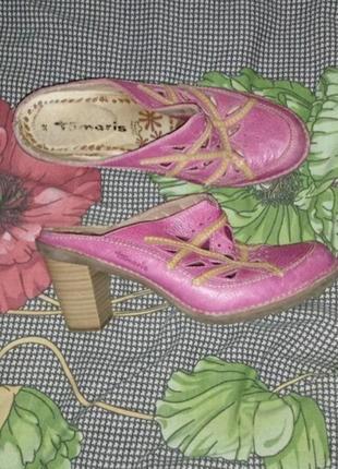 Кожаные туфли сабо