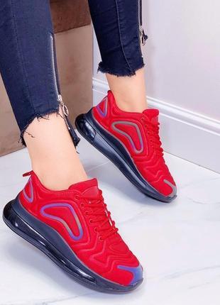Красные женские кроссовки в стиле nike air, кроссовки nike женские, кросівки 36,39-41р код 7717