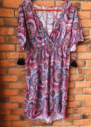 Платье летнее пляжное туника