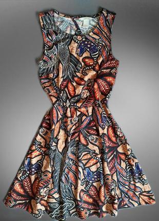 Платье цветочный этно принт сукня плаття квітковий принт hm h&m