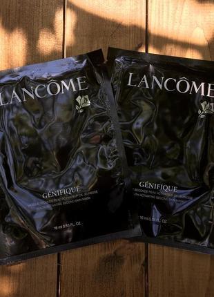 Уценка! тканевая омолаживающая маска lancome genifique оригинал