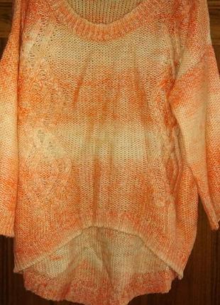 Фирменный ассиметричный свитер с шерстью george